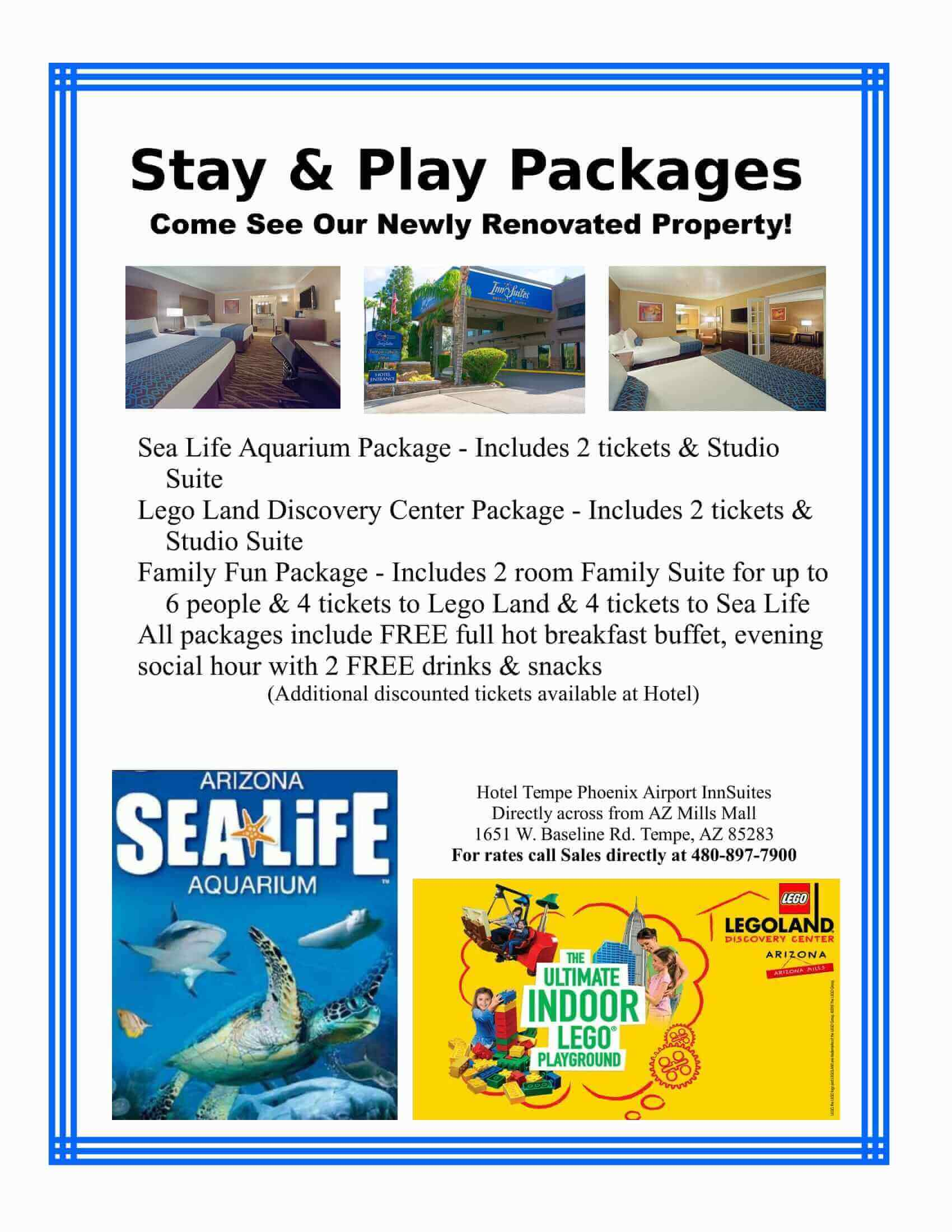 Lego Land Stay and Play Packages